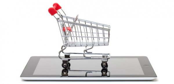 shopping cart on tablet
