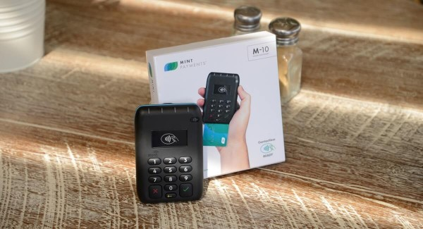 Mint Payments packaging and card reader