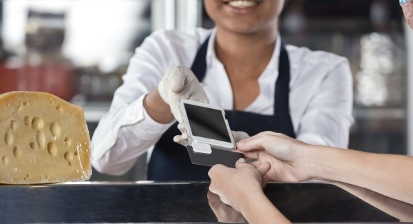 over-the-counter swipe card payment with magstripe reader