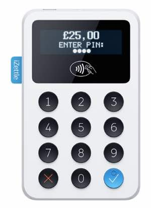 iZettle Reader with amount in pounds sterling