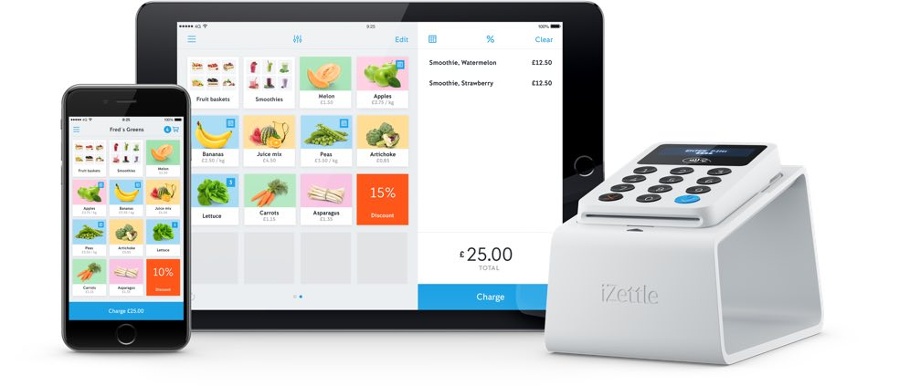 Top 5 card machines for small businesses in the uk izettle cloud pos with card reader reheart Image collections