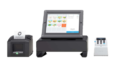 iZettle POS setup for countertop