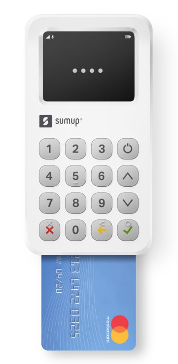 SumUp card machine with chip card